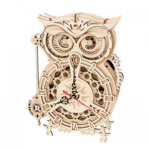 Owl clock, splicing DIY, home decoration, simple bedside alarm clock, desk clock