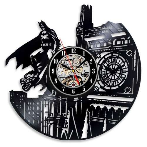 Batman Dark Knight Hero Arkham City DC Comic Movie Character Vinyl Record Design Wall Clock - Decorate Your Home with Modern Famous Batman Dark Knight Story Art