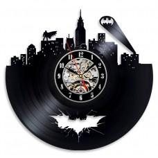Vinyl Evolution Batman Arkham City Logo Best Wall Clock - Decorate your home with Modern Large Superhero Art - Gift for friend, man and boy