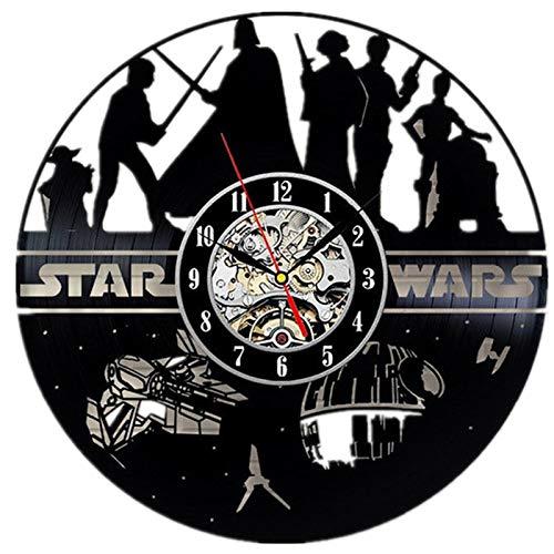 Star Wars Vinyl Record Clock Home Design Room Art Decor Handmade