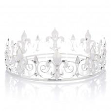 Crystal Men's Crown Tiara Rhinestone King's Crown Tiara Tiara Headdress for Celebration Party