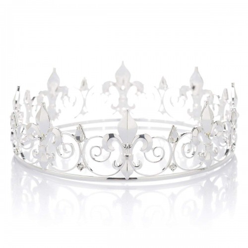 Crystal Men's Crown Tiara Rhinestone King's Crown Tiara Tiara Headdress for Celebration Party