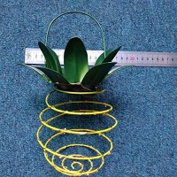 Retractable Solar Pineapple Light Solar Powered Rechargeable Lantern Lamp LED Outdoor Decor Lighting