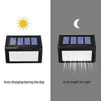 Solar Lights Outdoor, Solar Powered Step Lights Wireless Waterproof LED Outdoor Security Lamps Lighting