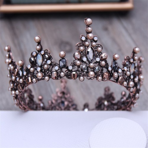 Baroque Queen Tiara Crown Evening Headdress Headband Wedding Hair Accessory
