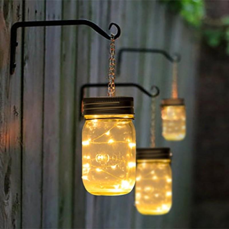 Hanging Solar Mason Jar Lid Lights String Fairy Lights