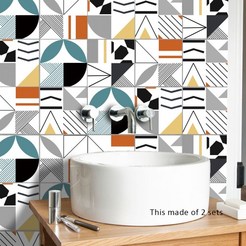 Pattern tile stickers bathroom bathroom wall stickers waterproof and moisture