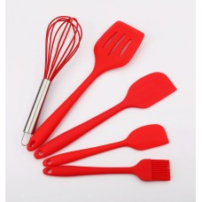 5-Piece Silicone Kitchen Baking Utensil Set