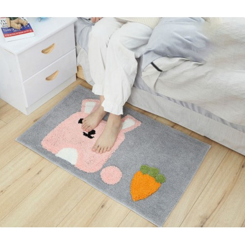Flocking Cartoon Living Room Kitchen Bedroom Bathroom Non-Slip Carpet