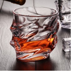 Everest Shaped Whiskey Glasses Lead Free Crystal Set of 2