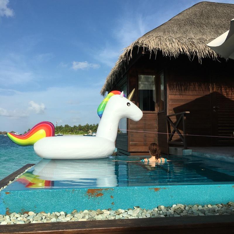 Giant Inflatable Unicorn Pool Float Raft Floaty Lounger