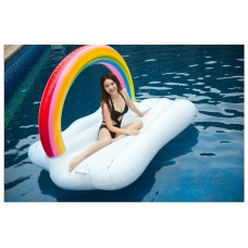 Giant Inflatable Rainbow Cloud Pool Float Raft Floaty Lounger
