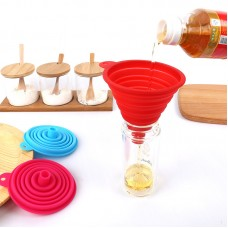 Flexible Foldable Silicone Funnel Set of 6