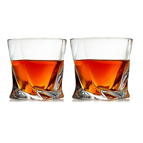 Premium Lead Free Crystal Whiskey Glasses Set of 2