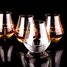 Crystal Whiskey Tumbler Glasses Set of 4