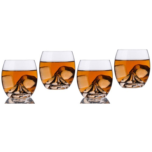 Final Touch On The Rock Glass,Whisky Glass Cup set of 4