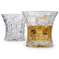 Wide Brim Designed Whiskey Glasses Set of 2