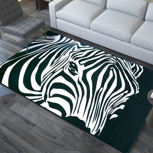 Zebra Carpet Modern Style Bedroom Living Room Ultra-thin Square Rug