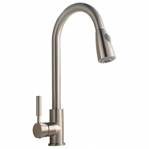 Single Handle  brass Pull Down Sprayer Kitchen Faucet