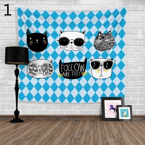 Popular Handicrafts Wall Tapestry,Cartoon cat 2