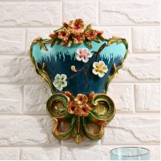 European style resin wall hanging vase