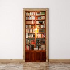Retro book cabinet door sticker