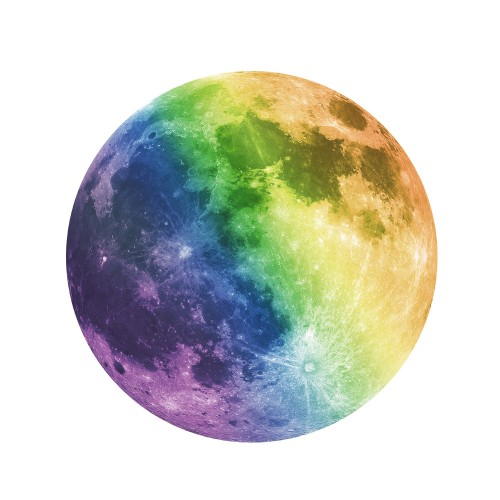Creative living room wall decoration moon sticker,Colorful