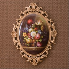 European retro environmentally resin wall hanging artwork, 2