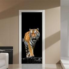 3D digital printing PVC fierce tiger waterproof door wall sticker