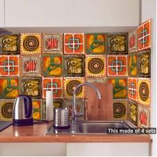 Bedroom living room kitchen Italian style tile sticker wall sticker