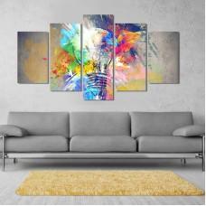 Canvas inkjet art deco combination painting, Color