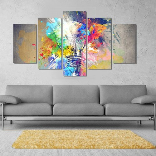 Canvas inkjet art deco combination painting, Color