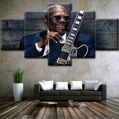 Canvas inkjet art deco combination painting, Music star