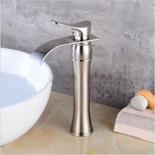 Waterfall Spout Bathroom Vessel Sink Faucet Tall Body