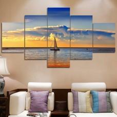 Canvas inkjet art deco combination painting, Calm