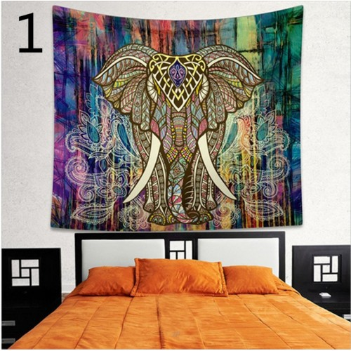 Popular Handicrafts Colorful Psychedelic Elephant Bohemian Tapestry