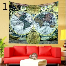 Popular handicrafts colorful world map tapestry