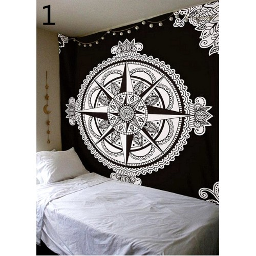 Popular handicraft classic black white pattern tapestry