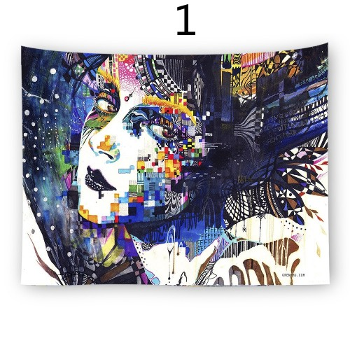 Popular Handicrafts Wall Tapestry,Artistic Face