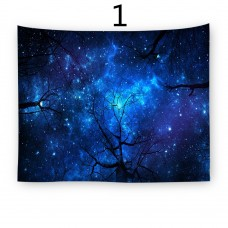 Popular Handicrafts Wall Tapestry,Forest Starry sky