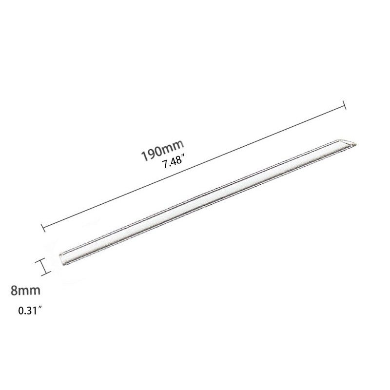 Straight Glass Straws