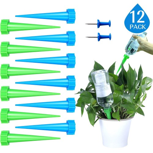 Automatic Watering Spikes Self Plant Watering Devices Drip Irrigation System 12 psc
