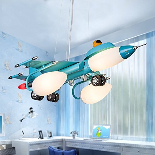 Boys Bedroom Lights Cartoon Children S Iron Gl Lamps Airplane Light Fixture
