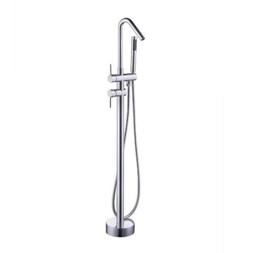 Freestanding Bathtub Faucet - Floor Mounted Bath Tub Filler Faucets