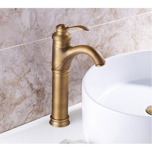 Classic antique copper low lead single handle single hole bathroom faucet