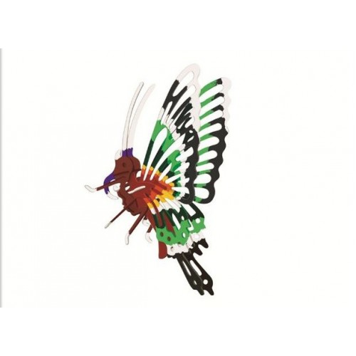 3D, wooden assembling and coloring, animal series puzzles, assembling and coloring by yourself   Butterfly