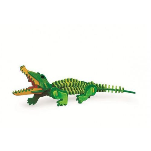 3D, wooden assembling and coloring, animal series puzzles, assembling and coloring by yourself   Crocodile