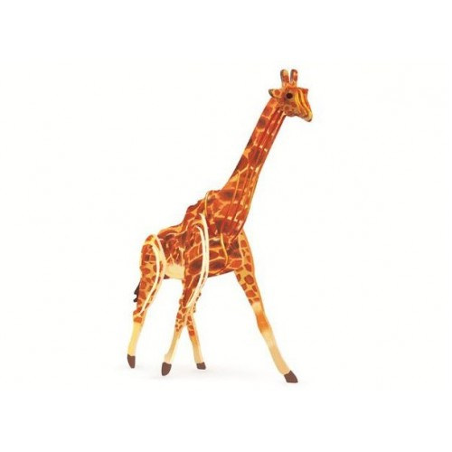 3D, wooden assembling and coloring, animal series puzzles, assembling and coloring by yourself | Giraffe