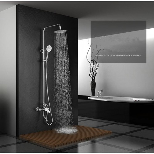 304 stainless steel shower system, Handheld Shower and top spray, Big Flow Shower Combo System in wall
