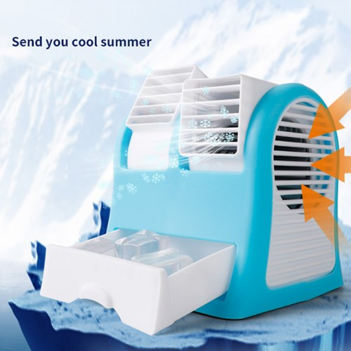Air cooler, portable personal space Arctic air, mini air conditioner 3-in-1 fan humidifier (USB or battery powered) can add aromatherapy, suitable for home / bedroom / office / outdoor (no noise)